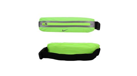 NIKE 擴充式薄型腰包2.0-臀包 單車 慢跑 路跑 登山 反光 螢光綠銀@N1000828342OS@