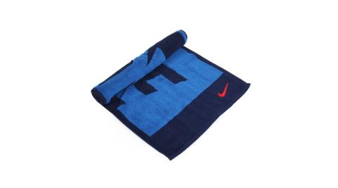 NIKE 日式盒裝毛巾-一只入 海邊 浴巾 游泳 戲水 慢跑 路跑 藍丈青紅@NTT81444MD@