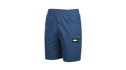 PUMA 男基本系列8吋短褲-休閒 慢跑 亞規 珊瑚藍黑白@58268143@