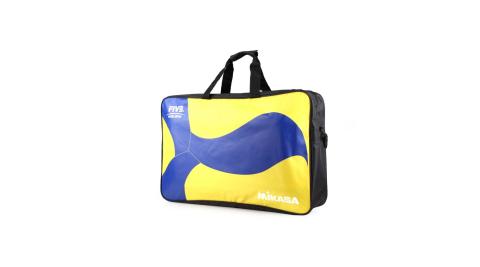 MIKASA 排球袋-6顆裝 手拿袋 手提袋 肩背袋 收納袋 藍黃黑@MKAC-BG260W-YB@