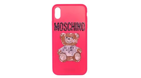MOSCHINO 新款塗鴉熊熊I Phone XR手機殼 (桃紅)
