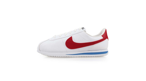 NIKE CORTEZ BASIC SLGS 女休閒鞋-慢跑 路跑 阿甘鞋 白紅藍@904764103@