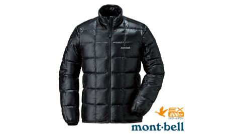 【日本 MONT-BELL】男款 800FP 超輕保暖羽絨夾克/Superior 鵝絨外套.輕量防風夾克.禦寒_黑 1101466