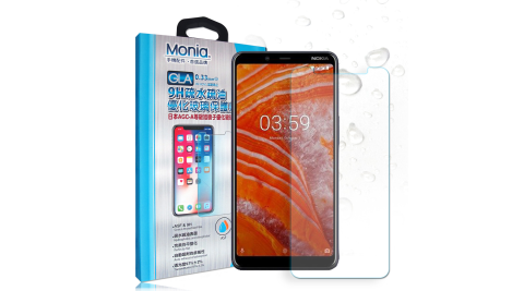 MONIA Nokia 3.1 Plus 日本頂級疏水疏油9H鋼化玻璃膜 玻璃保護貼(非滿版)