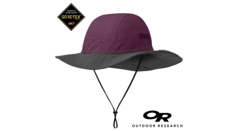 【Outdoor Research 美國】OR-243505-防水透氣保暖招牌大盤帽 灰/紫(0388)