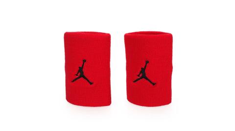 NIKE JORDAN JUMPMAN單色腕帶-飛人喬登 籃球 NBA 護腕 一雙入 紅黑@JKN01605OS@