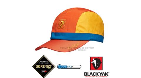 【韓國 BLACK YAK】女新款 潮流暢銷款GORE-TEX防風防水撞色棒球帽.遮陽帽.休閒帽/BY161WAJ0114 橘色
