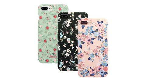 KUTIS iPhone 7Plus / 8Plus專用 花系列正反全包手機保護殼【贈】鋼化保貼