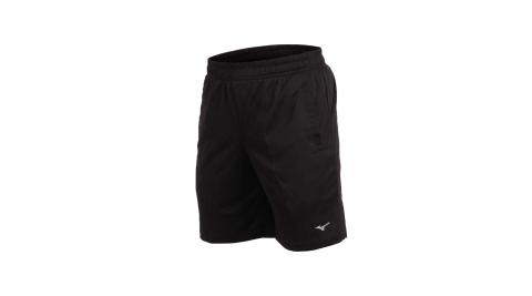 MIZUNO 男足球短褲-訓練 慢跑  五分褲 美津濃 黑銀@P2TB8A0409@