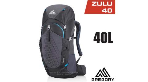 【美國 GREGORY】 Zulu 40 專業健行登山背包(40L_附全罩式防雨罩)_111590 臭氧黑