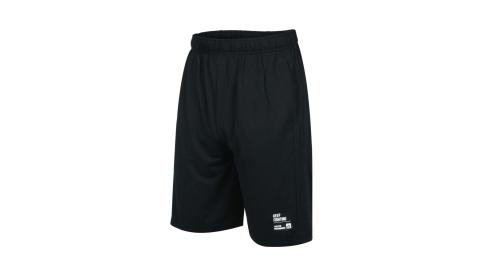 FIRESTAR 男彈性訓練籃球短褲-寬版 吸濕排汗 運動 慢跑 路跑 五分褲 黑@B0503-10@