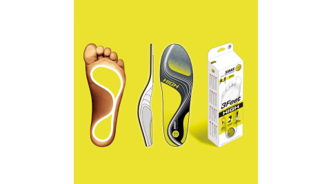 【SIDAS】SIDAS 3feet® 法國 頂級運動鞋墊 高足弓適用 專業型 鞋墊