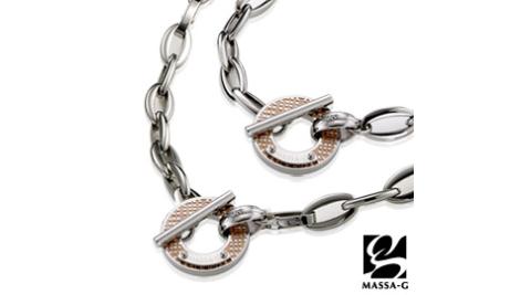 MASSA-G Deco系列 玫瑰星空 鍺鈦項鍊