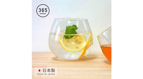 【日本365methods】日製晚酌微醺搖曳玻璃杯-495ml  (不倒翁杯)