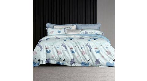 LAMINA 夢幻海洋 100%天絲枕套床包組 雙人