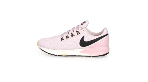 NIKE W AIR ZOOM STRUCTURE 22 女慢跑鞋-路跑 粉藕黑@AA1640009@