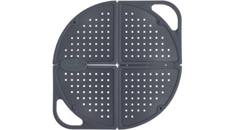 《Master》折疊防噴濺鍋蓋(灰30cm)_鍋蓋