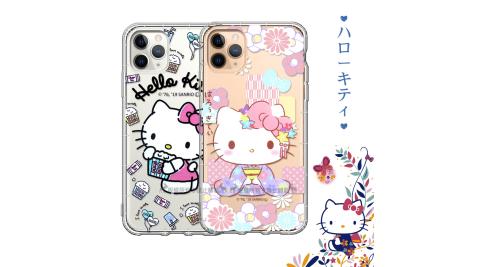 三麗鷗授權 Hello Kitty凱蒂貓 iPhone 11 Pro Max 6.5吋 彩繪空壓手機殼 有吊飾孔