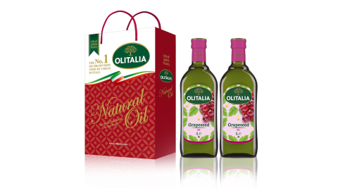 【Olitalia奧利塔】義大利葡萄籽油禮盒(2罐/組)6組 共 12罐/組