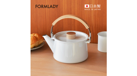 【日本FORMLADY】小泉誠 kaico日製原木柄琺瑯茶壺-1.45L