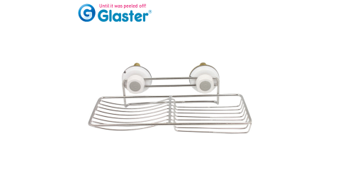 【Glaster】韓國無痕氣密式雙肥皂置物架(GS-22)