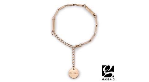 MASSA-G【Simple純粹】磁石能量白鋼手鍊-玫瑰金