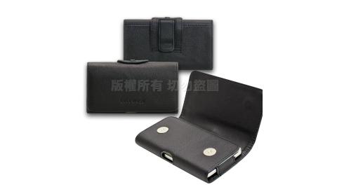 CITY for 華為HUAWEI P30 Pro / HTC U19e  精品真皮橫式腰掛皮套