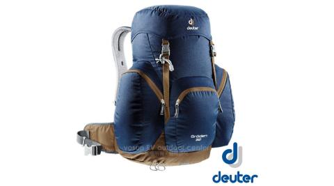 【德國 Deuter】GRODEN 32 網架直立式透氣背包32L.登山健行背包.自助旅行背包/3430316 深藍/咖啡