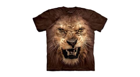【摩達客】美國進口The Mountain Smithsonian  獅吼臉 純棉環保短袖T恤