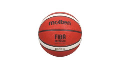 MOLTEN 12片橡膠深溝籃球#5-戶外 室外 訓練 5號球 橘米白黑@B5G2010@