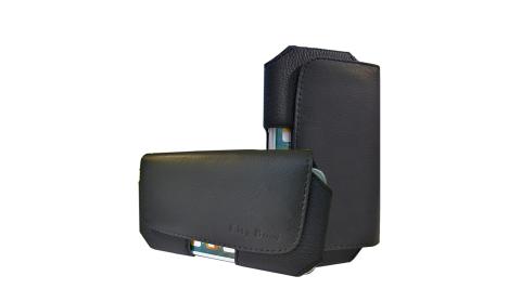 風尚簡約 iPhone/HTC/ASUS/OPPO/三星/SONY/華為 頭層牛皮 6吋磁扣腰包皮套