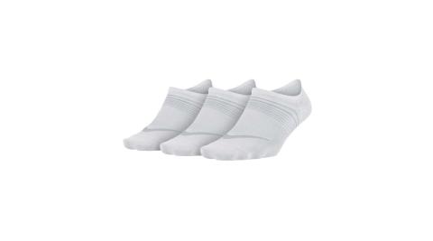 NIKE 三包女子輕質訓練襪-短襪 襪子 三雙入 白灰@SX5277-100@