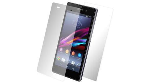 超值二合1 Sony Xperia Z1 C6902 L39H 亮面防刮螢幕貼+機身貼