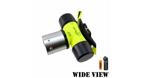【WIDE VIEW】螢光U2潛水頭燈組(附電池+充電器NZL-WU2-AT)