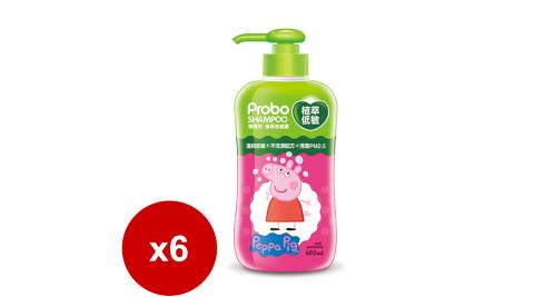 快潔適 博寶兒 植萃低敏洗髮露(650ml-佩佩豬)*6瓶