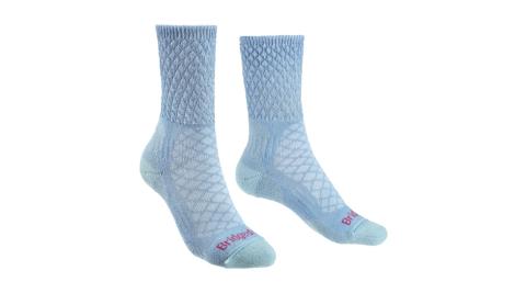 【Bridgedale】健行家 溫控級美麗諾輕量襪 美麗諾羊毛 710619-438 藍 登山襪 中筒襪 羊毛襪 女款