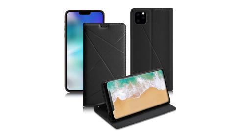 Xmart for iPhone 11 Pro 5.8吋 渴望完美真皮磁吸皮套-黑色