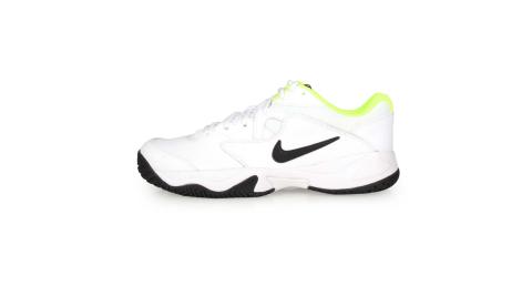 NIKE COURT LITE 2 男網球鞋-訓練 白黑螢光黃@AR8836107@