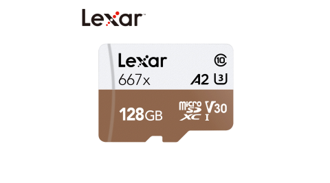 Lexar® 128GB Professional 667x microSDXC™ UHS-I U3 (A2) (V30) 記憶卡