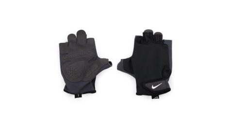 NIKE 男訓練手套-重量訓練 健身 半指手套 黑白@NLGC5057MD@