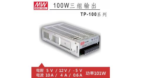 MW明緯 TP-100A 5V/12V/-5V機殼型交換式電源供應器 (101W)