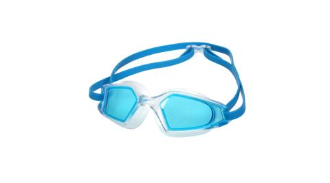 SPEEDO HYDROPULSE 成人運動泳鏡-游泳 訓練 戲水 抗UV 透明水藍@SD812268D647@
