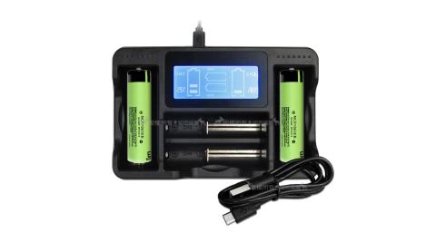 日本松下 Panasonic NCR18650B 3350mAh認證版凸頭鋰電池2入+LCD液晶四槽充電器 充電組