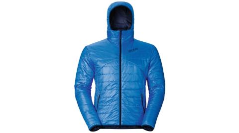 【瑞士ODLO】525162 男款 primaloft 長效保暖防風防潑水保暖外套(鈷藍/海軍藍) 雙面可穿