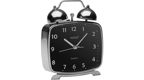 《VERSA》復古桌面鬧鐘(黑銀)