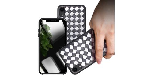 CITYBOSS for iPhone XR 黑白穿搭真皮手機保護殼