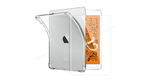 CITY for iPad mini (2019)/iPad mini 4 通用平板5D 4角軍規防摔殼+專用玻璃貼組合