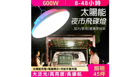 【WIDE VIEW】太陽能夜市飛碟照明燈(NTL-QP05)