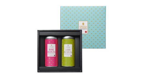 臻藏 台灣天然窨花茶禮盒(玫瑰烏龍茶+茉莉包種茶)