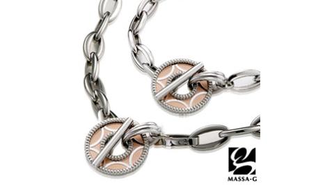 MASSA-G Deco系列 玫瑰金星 鍺鈦項鍊